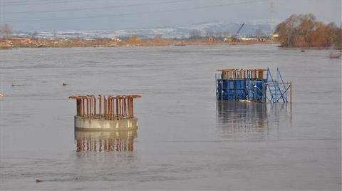 Dev Projenin İnşaatı Sular Altında Kaldı