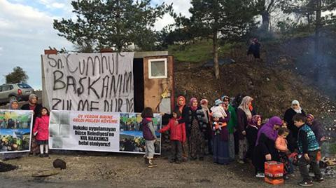 Köylüler Melen'de Çöp Nöbeti Tutuyor