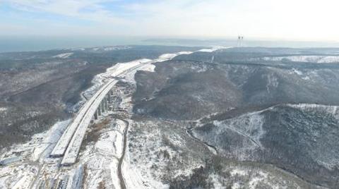 Üçüncü Köprü Havadan Görüntülendi