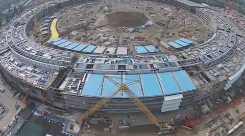 İşte Apple'ın Uzay Üssü İnşaatı