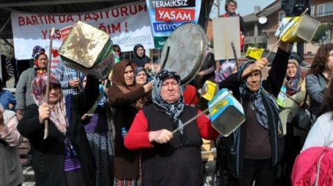 Bartın'da Termik Santrale Protesto
