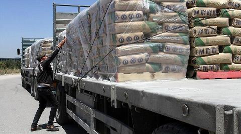 Gazze'ye Çimento Girişine İzin Verildi
