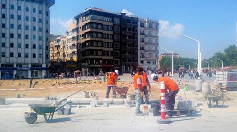 Taksim Meydanı Şantiyeye Döndü
