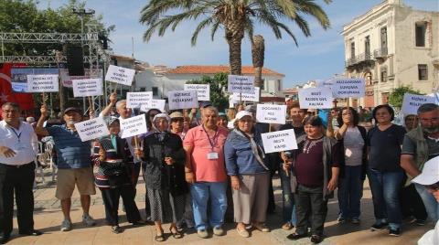 Çeşme'de RES Protestosu