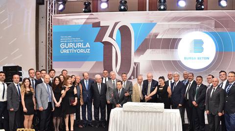 Bursa Beton'un Sektördeki 30. Yılı Kutlandı