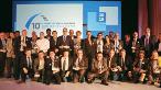 10. Saint-Gobain Uluslararası Gypsum Trophy ödül alanlar bir arada.