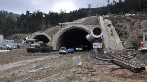 Tünelin Yüzde 59'u Tamamlandı