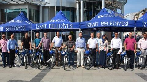 İzmit'te 'Haydi İşe Bisikletle' Projesi