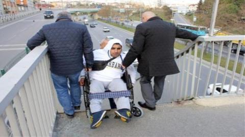 Engelli Vatandaşlara Üst Geçit Eziyeti
