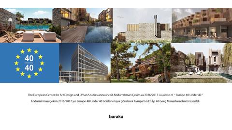 Europe 40 Under 40 Ödülü'nün Sahibi Türk Mimar Oldu