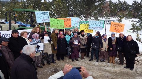 Köylülerden Çimento Fabrikası Kurulmasına Tepki