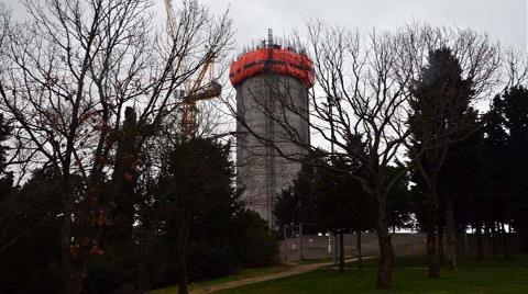 Çamlıca'daki TV Kulesinin İnşaatı Havadan Görüntülendi