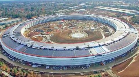 Apple'ın Yeni Merkezinin İnşaatı Son Sürat Devam Ediyor!
