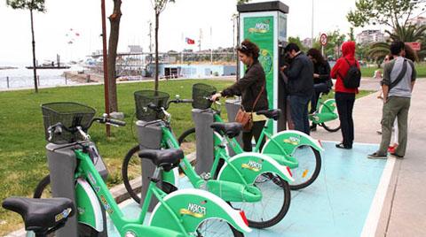 İstanbul'da 150 Bin Kişi Akıllı Bisiklet Sistemini Kullandı