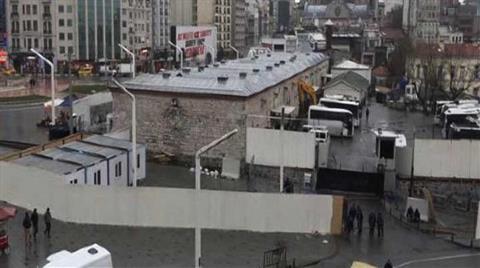 Taksim'de Cami için İnşaat Hazırlıkları Başladı