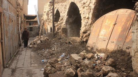 900 Yıllık Hüsamiye Medresesi Çöktü