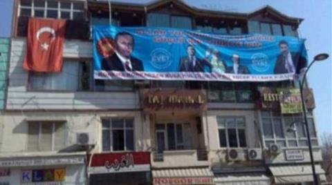 Kaçak Katın Yıkımını Durdurmak için 'Evet' Pankartı Astı