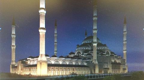 Çamlıca Camisine 3 Boyutlu Aydınlatma