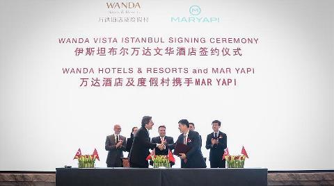 Çinli Wanda, Mar Yapı ile Türkiye'ye Geldi