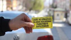 Hatalı Park Eden Araca Sticker'lı İfşa