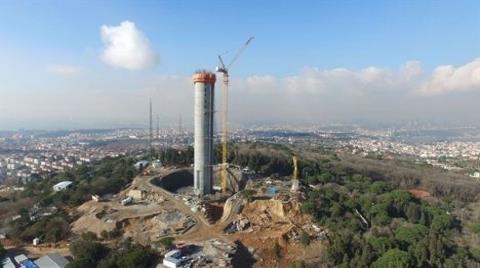 Çamlıca Kulesi'nin 220 Metresi Tamam!
