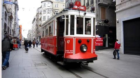 Beyoğlu'nun Simgesi Tarihi Tramvay Yenileniyor
