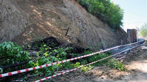 İstinat Duvarı Yapımında Toprak Kaydı, İşçiler Yaralandı