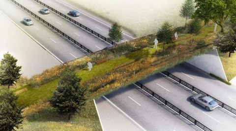Gezi Parkı'na Yapılacak Ekolojik Yaya Köprüsü Böyle Görünecek!