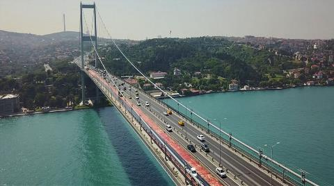 15 Temmuz Şehitler Köprüsü'ne İlk Asfalt