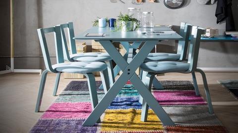 Loda'dan Log Mutfak Masası ve Sandalyesi