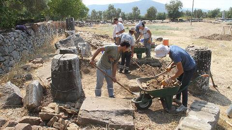 Euromos Antik Kenti'nde Kazı Çalışmalarına Başlandı