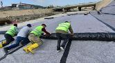Yeşilırmak'ın Zeminine Beton Döküp, PVC ile Kapladılar
