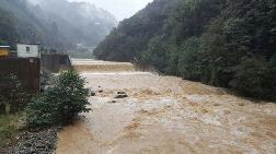 Rize'de Şiddetli Yağış; 20 Ev Boşaltıldı