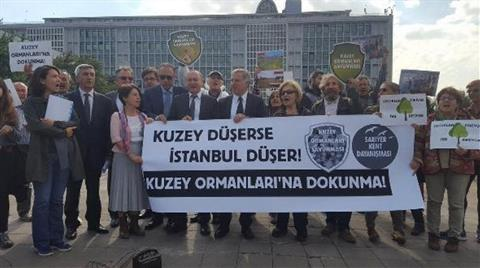 KOS'tan İBB Önünde 'Ağaç Kesimi' Protestosu