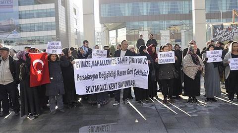 Sultangazi'de İmar Planı Protestosu