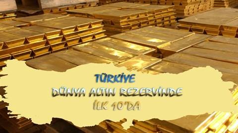 Türkiye Altın Rezervinde İlk 10'da