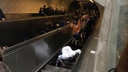 İstanbul Metrosu'nda Yürüyen Merdiven Çöktü