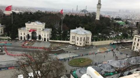 Beyazıt Meydanı'ndaki Çevre Düzenlemesi Durdu