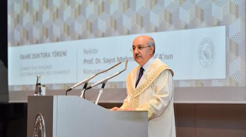 İTÜ'den Ersin Arıoğlu'na Fahri Doktora