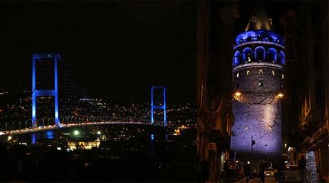 İstanbul Onlar İçin Maviye Boyandı