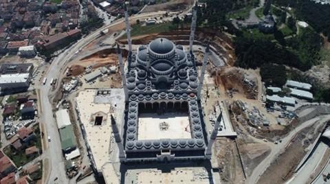 Çamlıca Camii'nin Son Hali Havadan Görüntülendi