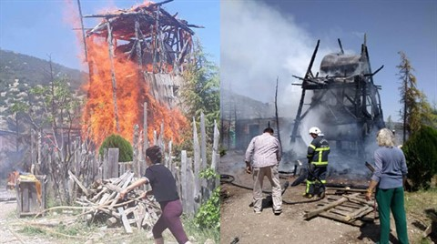 Burdur'daki 'Lisinia Doğa' Proje Alanında Yangın