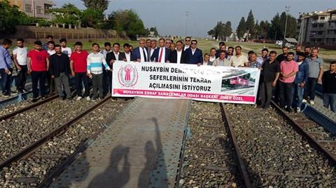 Nusaybin'de Tren Seferi Protestosu