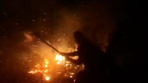 Çamlıhemşin'de, Yangını Söndürmek İçin Seferber Oldular