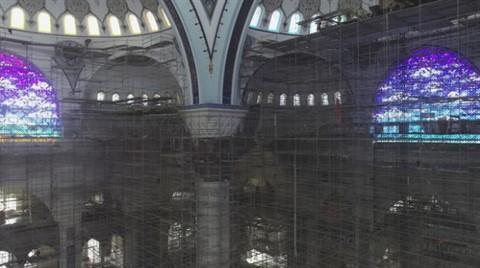 Çamlıca Camisi İçeriden Görüntülendi