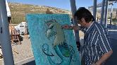 Yabancı Sanatçılar Antik Kenti Resmetti