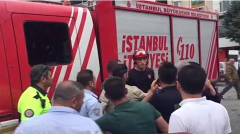 Taksim'de Polis İle İtfaiye Birbirine Girdi