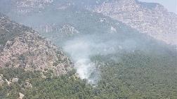 Ula'da Korkutan Orman Yangını