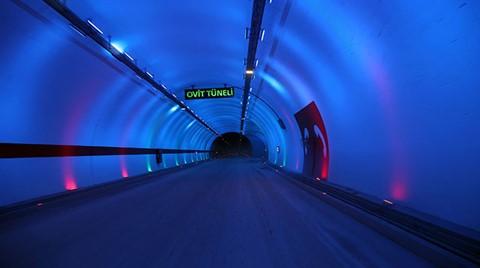 Ovit Tüneli Ulaşıma Açılıyor