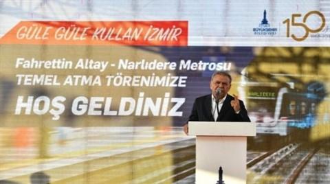 Fahrettin Altay-Narlıdere Metro Hattı'nın Temeli Atıldı